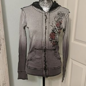 Sinful Affliction 2 in 1 reversible hoodie sz M